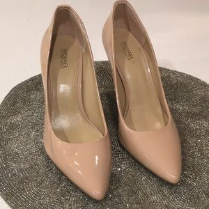 Michael Kors Nude Patent Leather Pumps